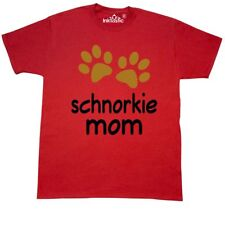 Inktastic Schnorkie Mom Paw Print T-Shirt Dog Breed Mixed Hybrid Pets Dogs Mens