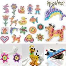 5mm Hama Perler Beads DIY Craft Template Puzzle Pegboards Pattern Kids Toys 2018