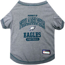 Philadelphia Eagles Pets First Officially Licensed NFL Dog Pet Tee Shirt, Gray