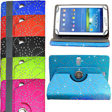 """Universal Diamond Folding Stand Sparkle Rotate Case Cover For All 7"""" Inch Tablet"""