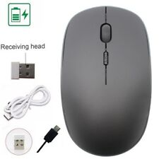 Rechargeable USB Wireless 2.4G Optical Mouse Mice + USB Receiver for Laptop PC