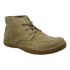 Hush Puppies FINNIAN SWAY Mens Lace Up Nubuck Leather Casual Ankle Boots Taupe