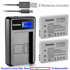 Kastar Battery LCD Charger for Canon NB-5L NB-5LH & Canon PowerShot S100 Camera