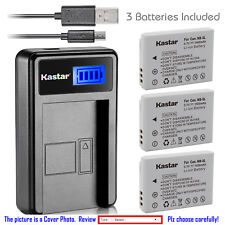 Kastar Battery LCD USB Charger for Canon NB-5L NB-5LH & Canon PowerShot SX200 IS