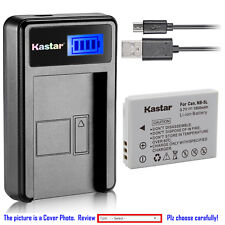 Kastar Battery LCD USB Charger for Canon NB-5L NB-5LH & Canon PowerShot SX220 IS