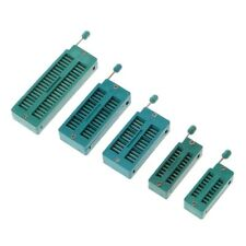 Green 16/20/24/28/40P Pin 2.54MM DIP Test Universal ZIF IC Socket Welding Type