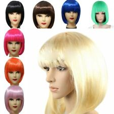 Fashion Women girl Sexy Full Bangs Wig Short Wig Straight BOB Hair Cosplay Party