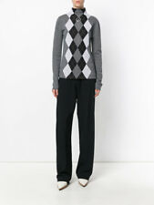 $985 STELLA MCCARTNEY ARGYLE RING DETAIL TURTLE NECK SWEATER SIZE IT42 US 8