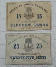 1863 Bank State of South Carolina 15 25 Cents Fractional Currency Note Lot P0110