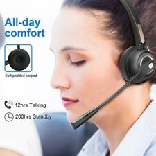 Call Center Work Bluetooth Headset BizoeRade Wireless Noise Cancelling Headset