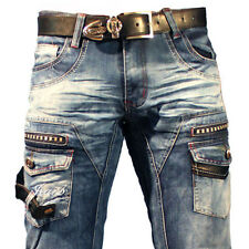 K&M KOSMO LUPO LEATHER MENS JEANS DENIM ALL SIZES