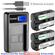 Kastar Battery LCD Charger for Sony NP-FM500H & Sony DSLR-A500 Alpha A500 Camera