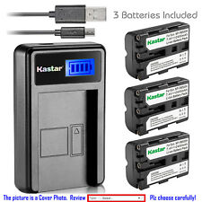 Kastar Battery LCD Charger for Sony NP-FM500H & Sony DSLR-A550 Alpha A550 Camera