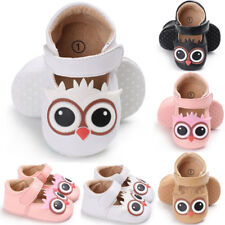 Newborn Infant Baby Kids Girl Crib Shoes Leather Anti-slip Christening Prewalker