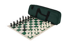 Deluxe Chess Set Combination and Triple Weighted Regulation Pieces | Vinyl Chess