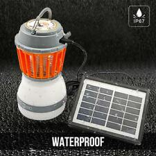 IP67 Solar Powered USB Rechargeable LED Mosquitoes Repellent Camping Light Lamp