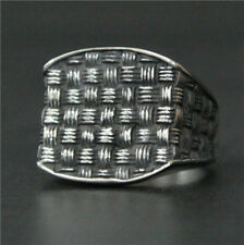 Cool Weaving Design Ring 316L Stainless Steel Mens Ring Party New Silver Rings