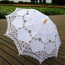 Lady Lace Embroidery Parasol Bridal Wedding Classic Decoration Umbrella Handmade