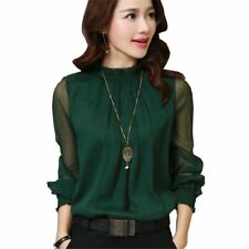 Chiffon Blouse New Korean Casual Ruffle Collar Shirt Long Sleeve Women Shirts To