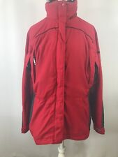 Womens Small Columbia Core Interchange Jacket Hood Authentic Issue Red Black