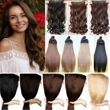 """17-30""""Long 100% Real Natural Extensions Clip in HAIR EXTENTIONS Straight Curly H"""