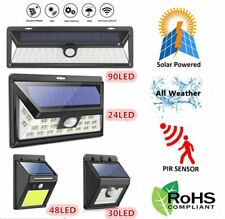SOLAR POWER POWERED LAMP DOOR FENCE WALL LIGHTS LED OUTDOOR GARDEN SHED LIGHTING