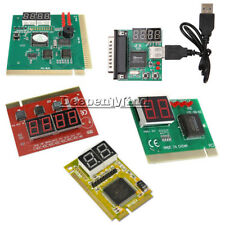 2 4 Digit 3 in1 PCI PCI-E USB POST Card PC Analyzer Analysis Diagnostic Card