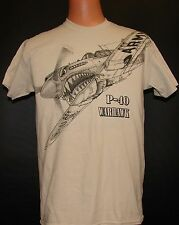 P-40 Warhawk WW2 WWii Airplane T-shirt with HUGE imprint on front