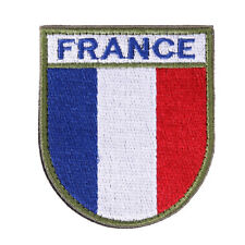 Flag Badge Patch Embroidered Iron France Patches Backpack Sew Hook Army Country