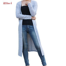 Casual Sleeve Women Long Sweater Cardigan Loose Open Front Sweaters Plus Size