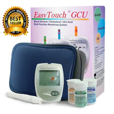 Blood Monitoring System EasyTouch GCU 3 in 1 For Glucose Cholesterol Urid Acid