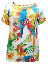 Woman Within Tropical Parrot Top  Plus Size  26/28 30/32