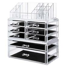 SONGMICS Makeup Organizer Cosmetic Storage Drawers Jewelry Display Case 3...