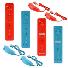 Remote and Nunchuck Controller Motion Plus with Silicone Case for Nintendo Wii