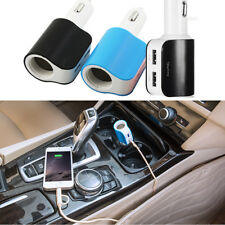 Dual 2-Port USB Car Cigarette Lighter Socket Charger Adapter For Cellphone Mp3