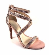 Jessica Simpson Ellenie2 Champagne Multi Strappy Stiletto Dress Sandals