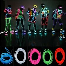 Fashion Trendy Neon Light Glow EL Wire Rope Tube Car Bar Dance Party Transparent