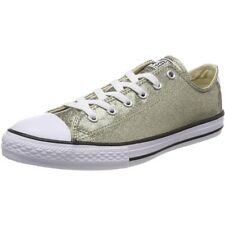 Converse Chuck Taylor All Star Glitter Ox Gold Synthetic Youth Trainers