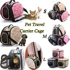Kennel Carrier Pet Dog Foldable Cat Sided Tote Supplies Cage Pet Portable