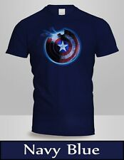Captain America Civil War Shield Movie T-Shirt Mens Navy Blue Shirt New