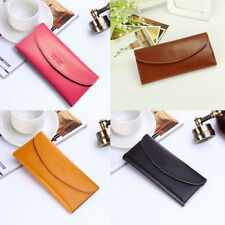 Elegant Soft Leather Multi Card Holder Wallet Clutch Long Purse for Womens