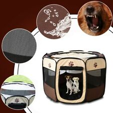 Large Pet Dogs Cat Playpen Tent Portable Exercise Fence Kennel Cage Oxford Crate
