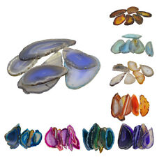 Agate Slices Geode Polished Irregular Crystal Pendant Charms Jewelry DIY 6pc