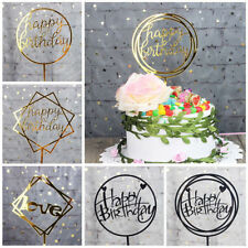 Home Cake Happy Birthday Cake Topper Card Acrylic Cake Party Decoration Supplies