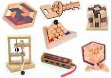 Classic IQ Puzzle Mind Brain Teaser 2D 3D Wooden Puzzles Educational Game Toys