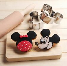 Mickey Mouse Metal Cookie Cutter Molds Biscuit Mould Cake Kitchen Baking Tools