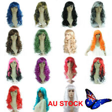 AU Womens 50cm Long Wavy Curly Hair Ladies Synthetic Party Cosplay Full Wig Wigs