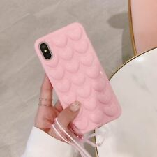 3d Love Heart Phone Case iPhone X Cartoon Cases Plus Soft Back Cover Lanyard