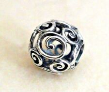 NEW Pandora Bead Openwork Disney Parks Mickey Mouse Swirls sterling silver charm