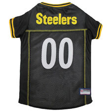 Pittsburgh Steelers NFL Pets First Licensed Dog Embroidered Pet Jersey XS-L